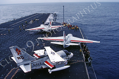 ACCSS3 00002 Lockheed S-3 Vikings of VS-38 on USS Constellation's bow by Peter J Mancus