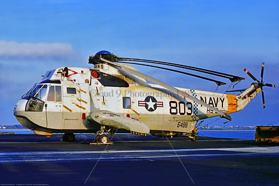 SH-3-USN-HS-5 002 A static USN Sikorsky SH-3D Sea King ASW helicopter, 15648, HS-5 NIGHTDIPPERS, with folded rotary blades, on USS Independence 11-1975 Portsmouth, military helicopter picture by Stephen W  D  Wolf      CCC_0104     Dt