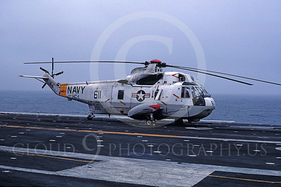 ACCSSH3 00003 Sikorsky SH-3H Sea King 149919 HC-1 USS Coral Sea August 1981 by Peter J Mancus