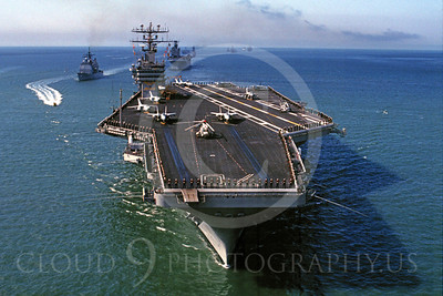 ACCS 00001 US Navy super aircraft carrier February 1988 by Peter J Mancus