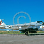 BIC-A-6USMC 00001 A static Grumman A-6E Intruder USMC attack jet 152931 with bombs VMA(AW)-121 GREEN KNIGHTS commander's airplane bicentennial markings Minot AFB 6-1976 military airplane pic ...