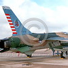BIC-F-105ANG 00001 A static Republic F-105 Thunderchief New Jersey ANG fighter-bomber bicentennial markings 5-1976 McGuire  AFB military airplane picture by David Ostrowski