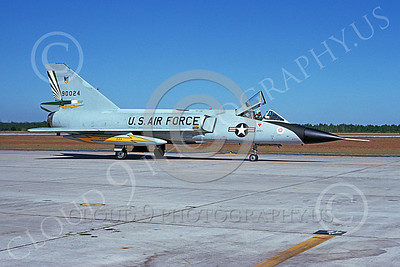 F-106AUSAF 00159 A taxing Convair F-106A Delta Dart USAF 590024 49th FIS CAVALIERS AND GREEN EAGLES BICENTENNIAL Tyndall AFB 11-1978 military airplane picture by L B Sides