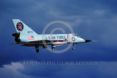 BIC-F-106USAF 00002 A landing Convair F-106A Delta Dart USAF 80776 318th FIS GREEN DRAGONS SPIRIT OF 76 FREEDOM BIRD military airplane picture by Joe Cupido