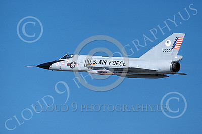 F-106AUSAF 00062 A flying Convair F-106A Delta Dart USAF 90009 ADWC Air Defense Weapons Center BICENTENNIAL Tyndall AFB 11-1976 military airplane picture by L B Sides