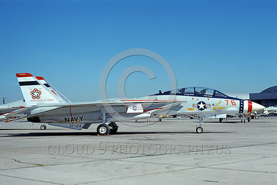 F-14USN-BIC 0003 A static Grumman F-14 Tomcat USN 159616 VF-124 GUNFIGHTERS NAS Miramar 1-1976 bicentnnial markings by Michael Grove, Sr