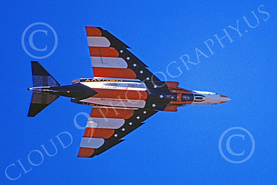 F-4USN 00504 A flying McDonnell Douglas F-4 Phantom II US Navy VX-4 EVALUATORS BICENTENNIAL 11-1977 military airplane picture by Michael Grove, Sr