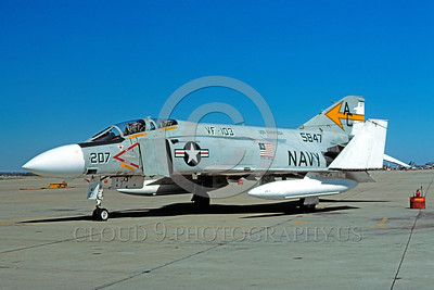 BIC-F4USN 00007 A static bicentennial markings McDonnell Douglas F-4 Phantom II USN 5847 VF-103 JOLLY ROGERS USS Saratoga AC code 7-1976 NAS Oceana military airplane picture by David Ostrowski