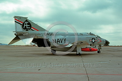 BIC-F4USN 00013 A static McDonnell Douglas F-4N Phantom II USN 150456 VF-41 BLACK ACES bicentennial markings NAS Miramar 11-1975 military airplane picture by Peter B Lewis