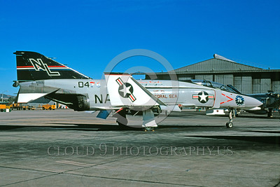 BIC-F4USN 00009 A static McDonnell Douglas F-4 Phantom II USN 0476 VF-51 SCREAMING EAGLES USS Coral Sea NL code NAS Miramar 1976 military airplane picture by Peter J Mancus