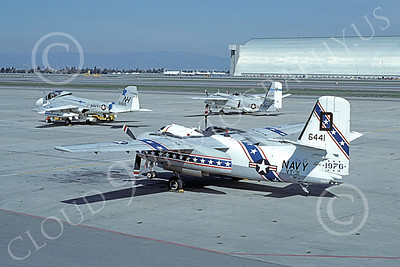 S-2USN 00043 A static Grumman US-2B Tracker USN 136441 NAS Moffett BICENTENNIAL 3-1977 military airplane picture by Michael Grove, Sr