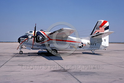 BIC-C-1 00001 A static Grumman C-1A Trader USN 146057 bicentennial markings NAS Lemoore 8-1976 military airplane picture by Peter J Mancus