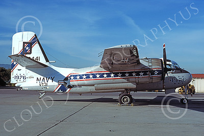 S-2USN 00040 A static Grumman US-2B Tracker USN 136441 NAS Moffett BICENTENNIAL 3-1977 military airplane picture by Michael Grove, Sr