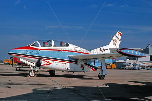 U.S. Navy T-2 Buckeye Airplanes in Bicentennial Color Scheme