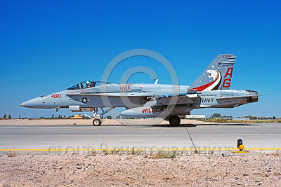 CAG-F-18USN 00001 A taxing McDonnell Douglas F-18C Hornet USN jet fighter VFA-131 WILDCATS CAG USS George Washington NAS Lemoore 8-1995 military airplane picture by Michael Grove, Sr