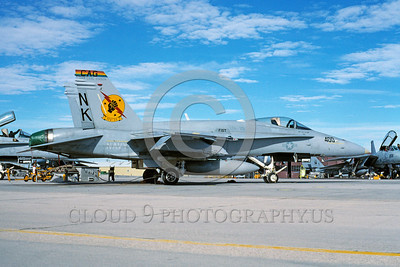 CAG-F-18USN 00003 A static McDonnell Douglas F-18C Hornet USN VFA-25 FIST OF THE FLEET CAG  USS Carl Vinson NAS Lemoore 10-1995 military airplane picture by Michael Grove, Sr