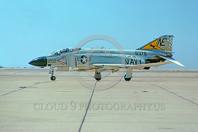 CAG-F-4USN 00015 A taxing McDonnel Douglas F-4 Phantom II USN jet fighter VF-21 FREELANCERS USS Ranger NAS Miramar 8-1972 military airplane picture by Peter J Mancus