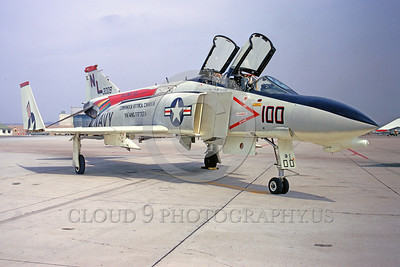 CAG-F-4USN 00007 A static McDonnell Douglas F-4 Phantom II USN jet fighter VF-51 SCREAMING EAGLES USS Coral Sea NAS Miramar 4-1971 military airplane picture by Peter J Mancus
