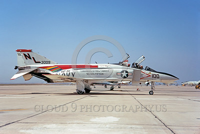 CAG-F-4USN 00013 A taxing McDonnell Douglas F4J Phantom II USN jet fighter VF-51 SCREAMING EAGLES USS Coral Sea NAS Miramar 9-1971 military airplane picture by Clay Janson