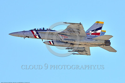 F-18F-USN-VFA-2 0002 A flying colorful Boeing F-18F Super Hornet jet fighter USN 166804 VFA-2 BOUNTY HUNTERS CAG USS Carl Vinson 4-2016 military airplane picture by Peter J  Mancus