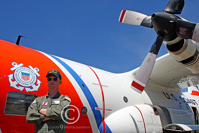 ACM 00375 US Coast Guard Lockheed HC-130M Hercules pilot by Peter J Mancus