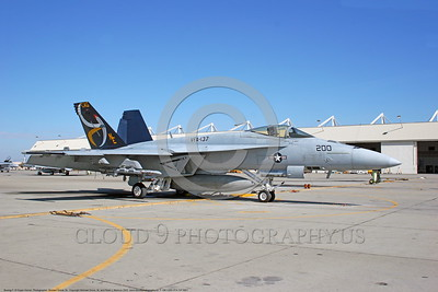 F-18E-USN-VFA-137 0001  A static Boeing F-18E Super Hornet USN jet fighter  VFA-137 KESTRELS CAG commanding officer's airplane NAS Lemoore 10-2005 military airplane picture by Michael Grove, Sr      DONEwt