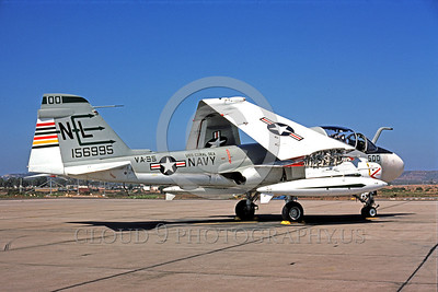COP-A-6USN 00001 A static Grumman A-6 Intruder USN attack jet 156995 VA-95 GREEN LIZARDS USS Coral Sea NAS Miramar by Peter J Mancus