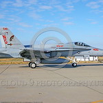 F-18C-USN-VFA-147  0001 A taxing McDonnell Douglas F-18C Hornet USN jet fighter 164039 VFA-147 ARGONAUTS CAG commanding officer's airplane NAS Lemoore 10-2005 military airplane picture by Mi ...