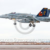 COP-F-18USN 00010 A colorful McDonnell Douglas F-18C Hornet USN jet fighter 164257 VFA-113 STINGERS commanding officer's airplane USS Carl Vinson with missiles lands at NAS Fallon 11-2013 military airplane picture by Peter J Mancus