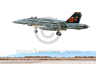 COP-F-18USN 00006 A colorful McDonnell Douglas F-18C Hornet USN jet fighter 164257 VFA-113 STINGERS with missiles USS Carl Vinson lands at NAS Fallon 11-2013 military airplane picture by Peter J Mancus