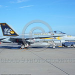 F-18C-USN-VFA-97 0003  A static McDonnell Douglas F-18C Hornet USN jet fighter 163444 VFA-97 WARHAWKS commanding officer's airplane NAS Lemoore 10-2005 military airplane picture by Michael G ...
