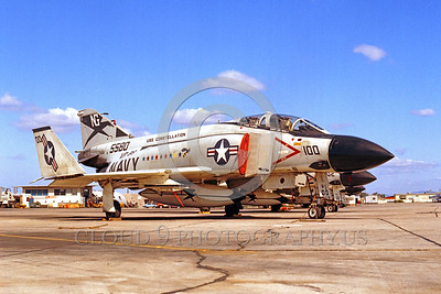 COP-F-4USN 00001 A static McDonnell Douglas F-4 Phantom II USN jet fighter VF-96 WORLD FAMOUS FIGHTING FALCONS commanding officer's airplane NAS Miramar military airplane picture by Peter J Mancus