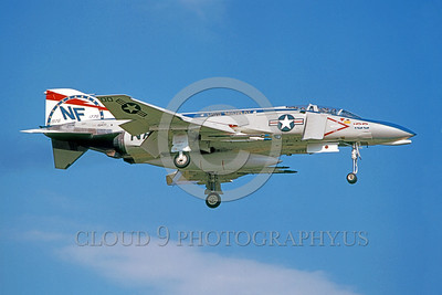 COP-F-4USN 00008 A landing McDonnell Douglas F-4 Phantom II USN jet fighter USS Midway BICENGENNIAL markings military airplane picture by Hideki Nagakubo