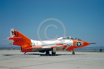 DG 00022 Grumman F9F-8T Cougar US Navy 147307 VA-126 July 1960 by Clay Jansson