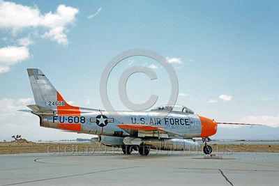 DG 00020 North American F-86F Sabre USAF 24608 rocket powered May 1960 by Eugene M Sommerich