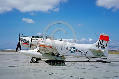 DG 00006 Douglas AD-7 Skyraider US Navy 142029 VA-122 1962 by Eugene M Sommerich_