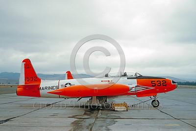 DG 00021 Lockheed T-33 Shooting Star USMC 141532 October 1961 MCAS El Toro by Clay Jansson