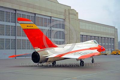DG-F6NASA 0001 A static day-glow Douglas F-4 Skyray NASA 708 military airplane picture by Clay Jansson