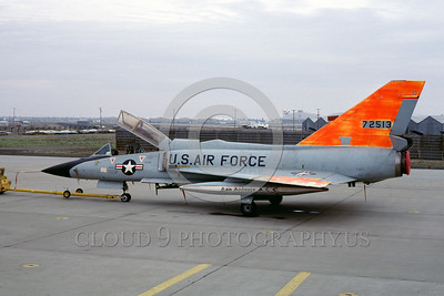 DG-F-106USAF 0001 A static day-glow Convair F-106B Delta Dart USAF 72513 McClellan AFB 12-1981 military airplane picture by Peter B Lewis