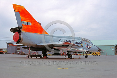 DG-F-106USAF 0005 A static day-glow Convair F-106B Delta Dart USAF 72513 1-1981 military airplane picture by Peter B Lewis