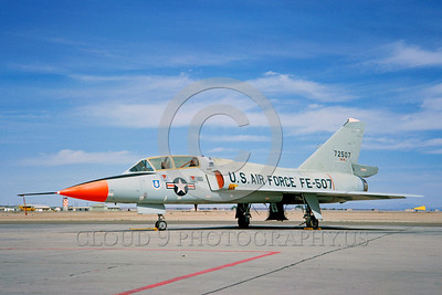 DG-F-106USAF 0007 A static day-glow Convair F-106B Delta Dart USAF 72507 military airplane picture by Clay Jansson