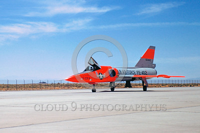 DG-F-106USAF 0003 A static day-glow Convair F-106 Delta Dart USAF 60462 Edwards AFB military airplane picture by Clay Jansson