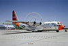 DG-C-130USAF 0001 A static day-glow Lockheed C-130A Hercules USAF 41624 George AFB 5-1964 military airplane picture by Peter B Lewis