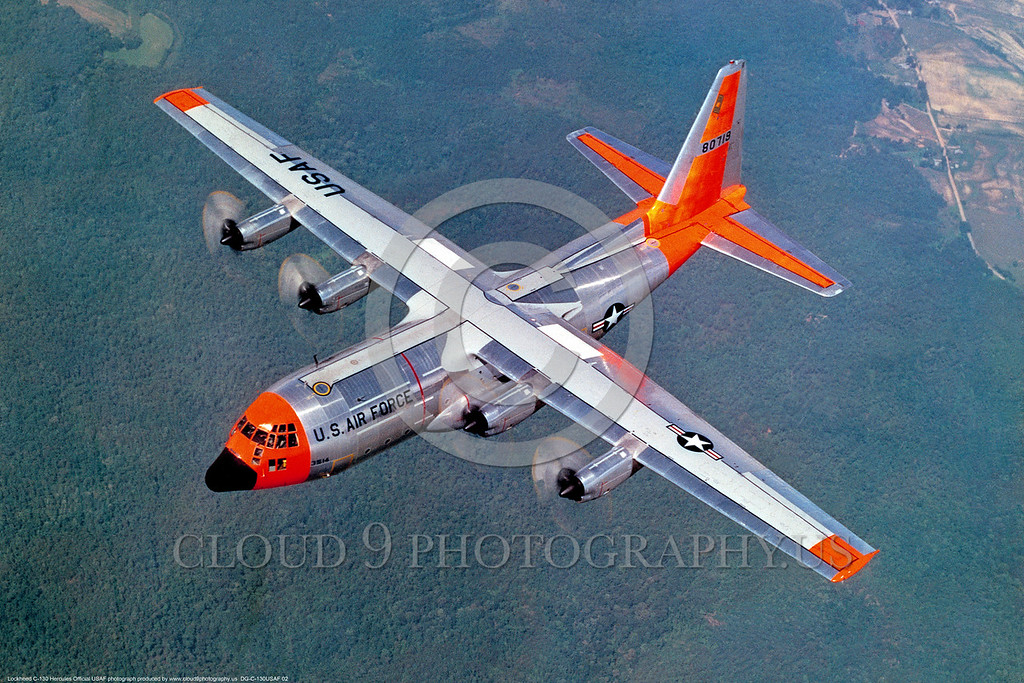 us air force lockheed c 130 hercules day glow color scheme military airplane pictures cloud9photography