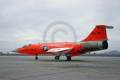 DG-F-104USAF 0001 A static Lockheed QF-104 Starfighter USAF 60741 jet fighter drone 5-1966 military airplane picture by Clay Jansson