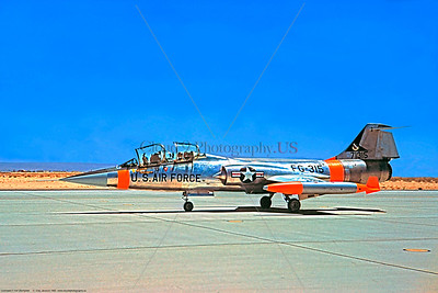 U.S. Air Force Lockheed F-104 Straighter Jet Fighter Day-Glow Color Scheme Military Airplane Pictures
