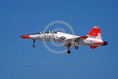 DG-T-38USAF 0002 A landing Northrop T-28A Talon USAF 00551 jet fighter McClellan AFB 10-1978 military airplane picture by Peter B Lewis