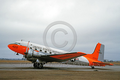 DG-C-117USMC 0003 A static day-glow Douglas C-117 Skytrain USMC 12422 MCAS El Toro 10-1961 military airplane picture by Clay Jansson