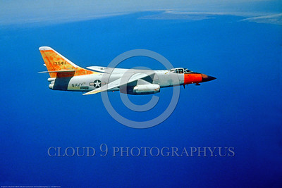 A-3-USN-Test 001 A Douglas A-3A Skywarrior USN VX-4 THE EVALUATORS, with day-glow and a F-111 Navy nose for Phoenix missile test and day-glow paint over the Pacific Ocean, official USN photo, via Stephen W  D  Wolf coll      3-853_4607     DoneWT