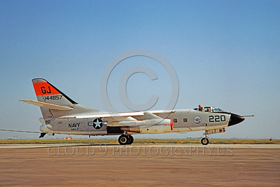 DG-A-3USN 0001 A taxing day-glow Douglas A3D Skywarrior US Navy 144857 VAH-3 SEADRAGONS Los Alamitos 8-1982 military airplane picture by Clay Jansson